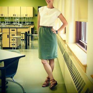 Vintage linen feel dress